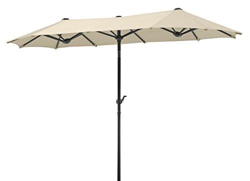 Schneider-Schirme rechteckig Sonnenschirm Salerno | Natur | 300 x 150 x 220 cm