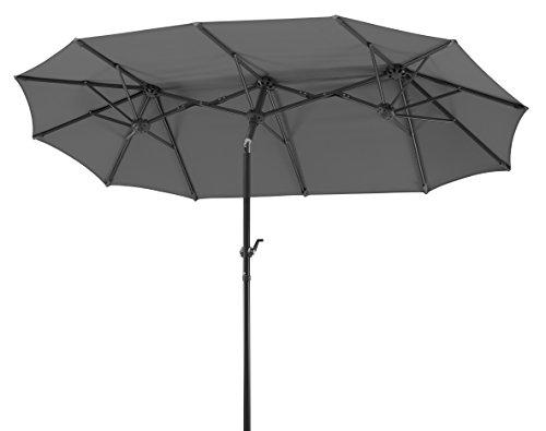 Schneider-Schirme rechteckig Sonnenschirm Salerno | Anthrazit | 300 x 150 x 220 cm