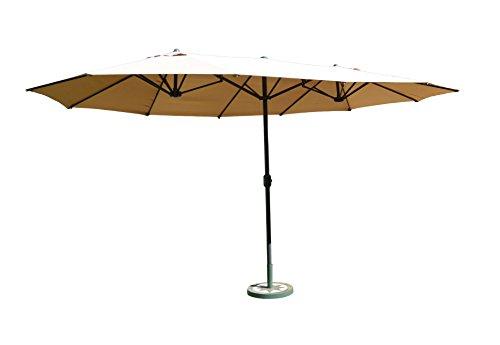Leco Doppelsonnenschirm Leco Oval-Schirm | ca. 270 x 460 cm | Natur